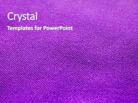 Beautiful PPT theme featuring fabric texture purple cloth background backdrop and a purple colored foreground.