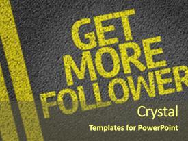 Powerpoint template twitter bird using loud speaker on orange custom template design 20000 toneelgroepblik Gallery