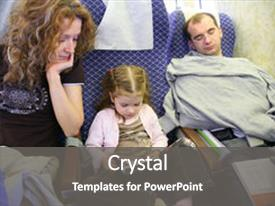 PPT layouts enhanced with family with child girl sit background and a gray colored foreground.