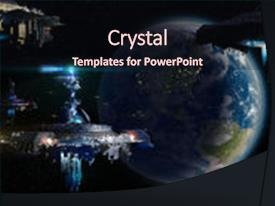 Cool new PPT theme with earth - fantasy or interstellar deep space backdrop and a wine colored foreground.