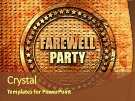 Farewell party invitation powerpoint templates w farewell party ppt theme having farewell party 3d rendering text background and a tawny brown colored foreground toneelgroepblik Image collections