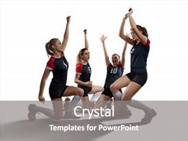 5000 volleyball powerpoint templates w volleyball themed backgrounds ppt theme having female volleyball team celebrating a point isolated on white background background and a toneelgroepblik Image collections