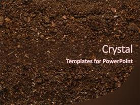 Beautiful PPT theme featuring fertile soil texture background seen backdrop and a  colored foreground.