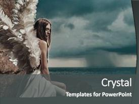 Angel powerpoint templates w angel themed backgrounds beautiful ppt layouts featuring fine art photo of a backdrop and a dark gray colored foreground toneelgroepblik Choice Image