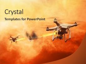 Top Drone Fire PowerPoint Templates, Backgrounds, Slides and PPT Themes