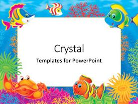 10 fish coral reef cartoon borders powerpoint templates w fish