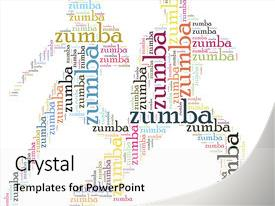 200 zumba powerpoint templates w zumba themed backgrounds presentation design featuring fitness relation tag or word cloud illustration background and a white colored toneelgroepblik Gallery