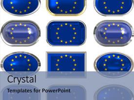 European union powerpoint templates crystalgraphics beautiful ppt theme featuring flag of the european union backdrop and a seafoam green colored foreground toneelgroepblik Image collections