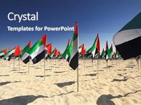 5000 uae powerpoint templates w uae themed backgrounds ppt layouts consisting of flags of on beach background and a ocean colored toneelgroepblik Choice Image