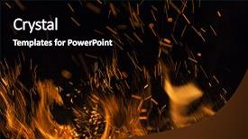PPT layouts with flames on a black background background and a black colored foreground.