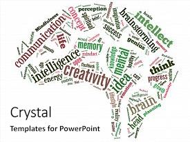 Theme with flashback - mindfulness brain word cloud background and a white colored foreground