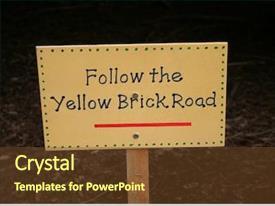 Wizard Oz Follow The Yellow Powerpoint Templates W Wizard