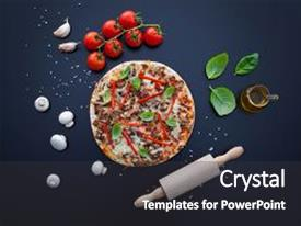 Cool new theme with food ingredients and spices backdrop and a dark gray colored foreground.
