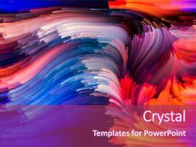 PPT layouts consisting of forces of nature art background and a violet colored foreground.