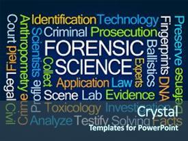 3000 forensic science powerpoint templates w forensic science slide deck consisting of forensic science word cloud background and a ocean colored foreground toneelgroepblik Gallery