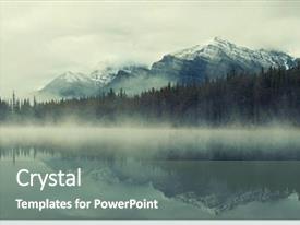 PPT layouts enhanced with forest - lake herbert panorama background and a gray colored foreground