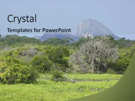 PPT theme featuring formations in yala national park background and a light blue colored foreground.