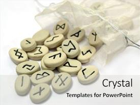 Cool new presentation with language - fortune telling - nordic runes backdrop and a light gray colored foreground.