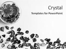 5000 Black White Vintage Flower Powerpoint Templates W Black White