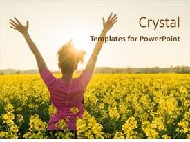 Amazing PPT layouts having free - mixed race african american girl backdrop and a cream colored foreground