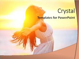 Cool new slides with free happy woman enjoying sun backdrop and a blonde colored foreground