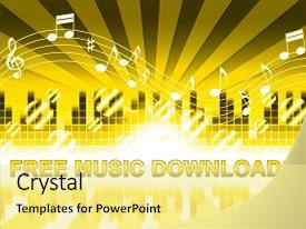 Presentation consisting of free music downloads design shows background and a blonde colored foreground.