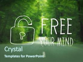 Cool new PPT theme with free your mind awareness attitude backdrop and a ocean colored foreground.