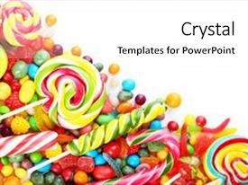 Audience Pleasing Presentation Consisting Of Fruit Candies On A White Background Close Up Backdrop And