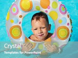 Colorful slide deck enhanced with funny child playing in water backdrop and a mint green colored foreground.