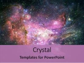 Theme having galaxy - abstract space fantasy background background and a coral colored foreground