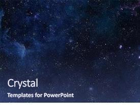 Presentation design enhanced with galaxy - beautiful night sky elements background and a navy blue colored foreground