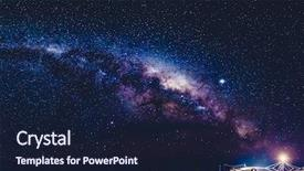 PPT layouts consisting of galaxy - long exposure astronomical photograph background and a wine colored foreground