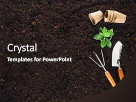 5000 soil powerpoint templates w soil themed backgrounds beautiful ppt layouts featuring gardening tools on fertile soil backdrop and a dark gray colored foreground toneelgroepblik Image collections