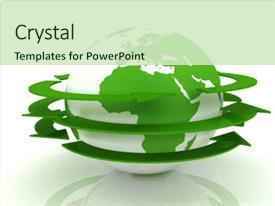 Amazing PPT theme having global network the internet backdrop and a soft green colored foreground.