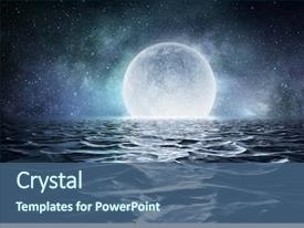 PPT theme with globe - there is another world background and a ocean colored foreground