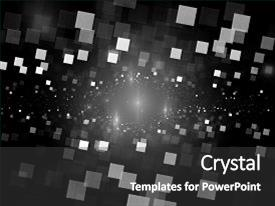 Colorful presentation design enhanced with glowing square tiles in space black and white texture big data computer generated abstract background 3d rendering backdrop and a dark gray colored foreground.