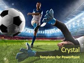 Stadium PowerPoint Templates W StadiumThemed Backgrounds - Awesome football powerpoint template concept