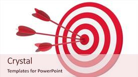 Slide deck consisting of goals targets - red and white target background and a lemonade colored foreground.