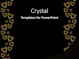 5000 black gold powerpoint templates w black gold themed backgrounds ppt theme having gold background with heart pattern background and a black colored foreground toneelgroepblik Images