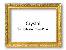 Beautiful theme featuring gold frame for painting or backdrop and a white colored foreground.