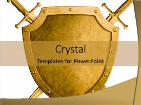 5000 knight powerpoint templates w knight themed backgrounds ppt layouts with gold medieval shield background and a gold colored foreground toneelgroepblik Image collections