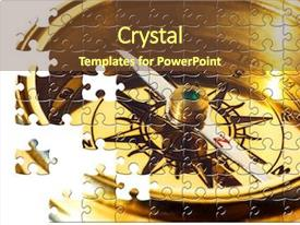 Cool new slides with puzzle old style brass compass backdrop and a tawny brown colored foreground