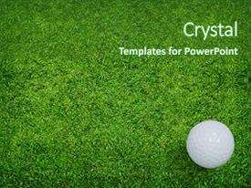 Golf powerpoint templates ppt themes with golf backgrounds template size colorful ppt layouts enhanced with golf ball on green grass backdrop and a forest green colored toneelgroepblik Image collections