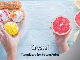 Cool new theme with grapefruit unhealthy vs healthy food backdrop and a light gray colored foreground.
