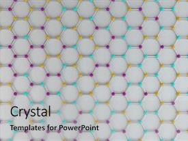 Top Background Crystal Physics PowerPoint Templates