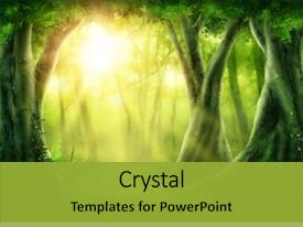 Theme enhanced with green - dark magic forest with sunshine background and a gold colored foreground
