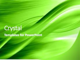 Presentation theme having green abstract composition background and a shamrock green colored foreground