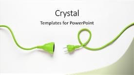 Colorful presentation theme enhanced with green power cable isolated backdrop and a white colored foreground