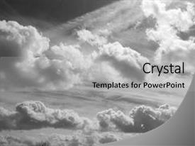 Colorful presentation design enhanced with group of clouds animated backdrop and a light gray colored foreground.