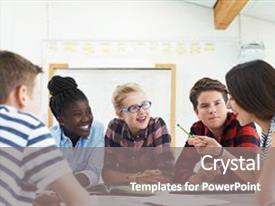 5000 teenage powerpoint templates w teenage themed backgrounds presentation theme with group of teenage students collaborating background and a gray colored foreground toneelgroepblik Images